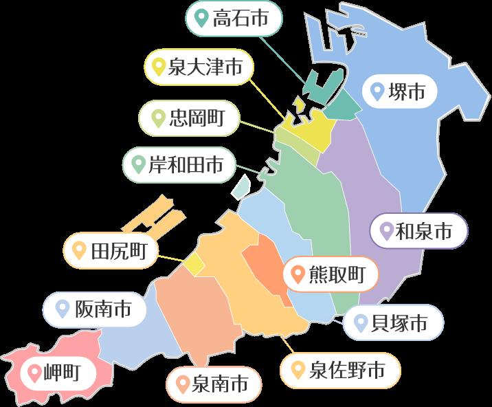 泉州の地図